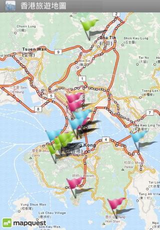 香港旅遊地圖