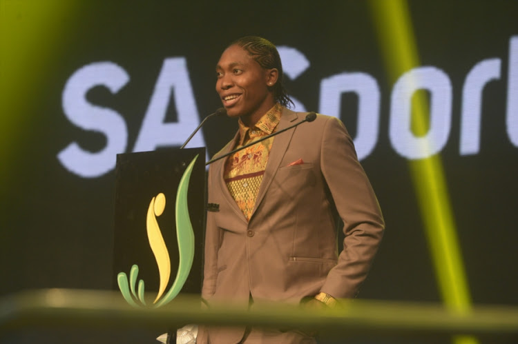 Caster Semenya during the SA Sports Awards at Emperors Palace on November 12, 2017 in Johannesburg, South Africa.