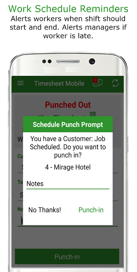 Employee Time Clock w/ GPS, Scheduling & Messaging- screenshot