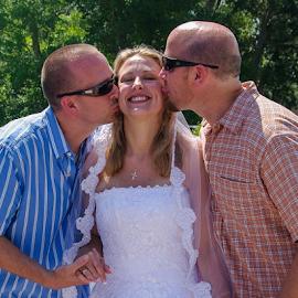 by Myra Brizendine Wilson - Wedding Groups ( wedding reception, holden beach, nc, sunshine, beach, wedding, family,  )