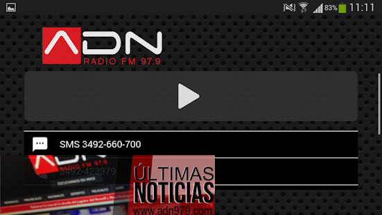 Radio ADN (Rafaela, ARG)- screenshot thumbnail