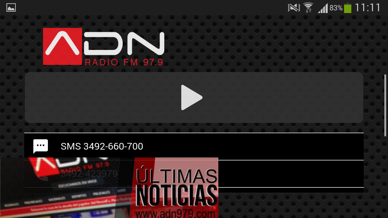 Radio ADN (Rafaela, ARG)- screenshot