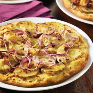 Roasted Chicken, Pancetta and Potato Pizza