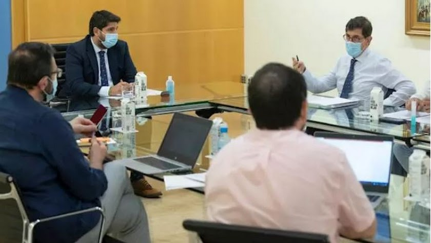Imagen del Comité de Seguimiento del COVID-19. Foto: Gobierno regional de Murcia