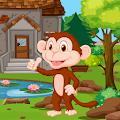 Cartoon Monkey Rescue Kavi Game-393
