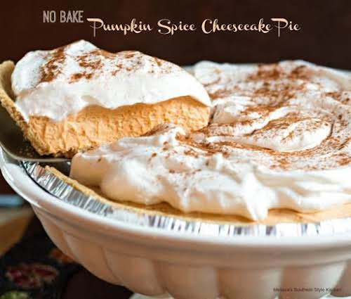 "No Bake Pumpkin Spice Cheesecake Pie ""While some of my family loves..."