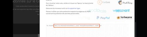 Comment insérer une ligne HTML sur un éditeur de site