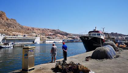 Puerto pesquero y lonja del pescado de Almería.