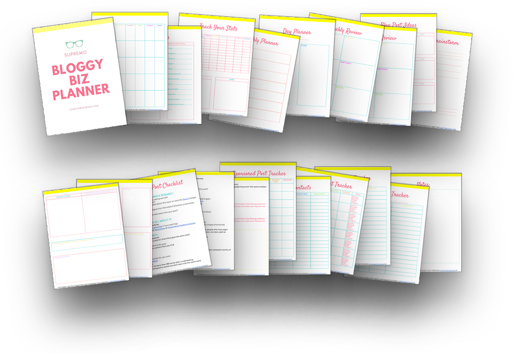 50 Page Printable Blog and Business Planner