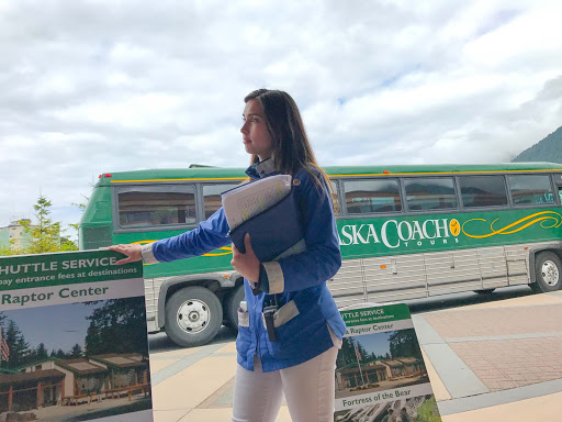 alaska-coach-tour.jpg - Awaiting an Alaska Coach Tour in Sitka, Alaska.