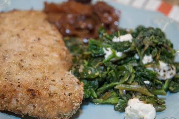 Side Essentials: Sautéed Spinach & Goat Cheese Recipe