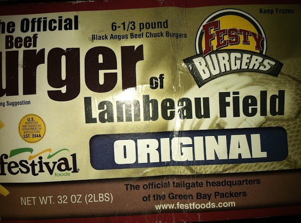 Go to Festival Foods and purchase original Festy Burgers (you can order them online...