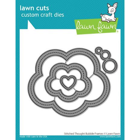 Lawn Fawn Dies - Stitched Thought Bubble Frames