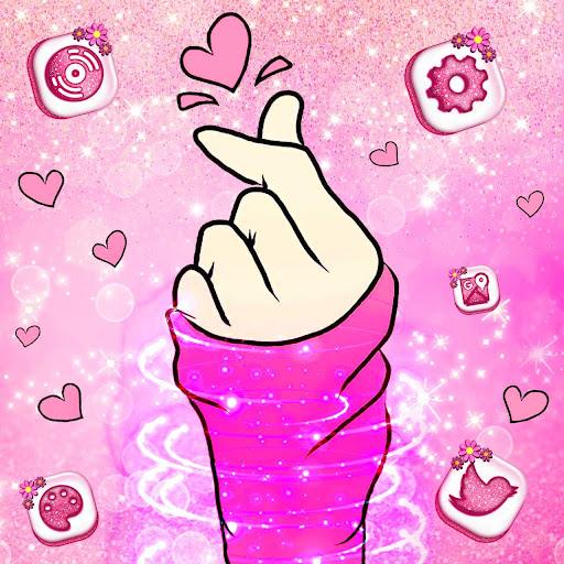 bling love heart launcher theme live hd wallpapers screenshot 2
