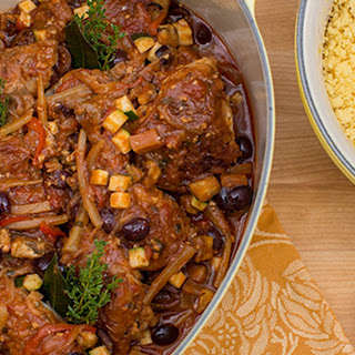 Moroccan Braised Chicken with Orange Couscous