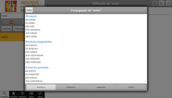 Screenshot of Michaelis Escolar Espanhol