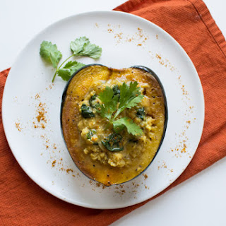 Acorn Squash with Curried Lentils.