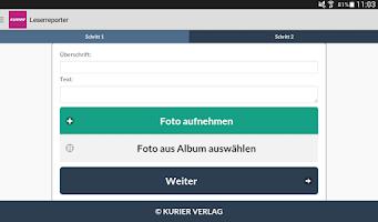 Screenshot of KURIER VERLAG