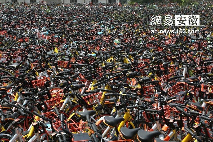 Os cemitérios de bicicletas abandonadas da China