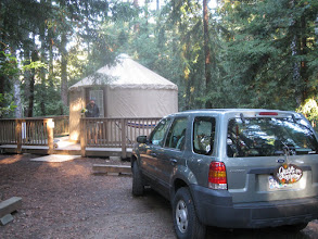 Photo: Our secluded honeymoon yurt