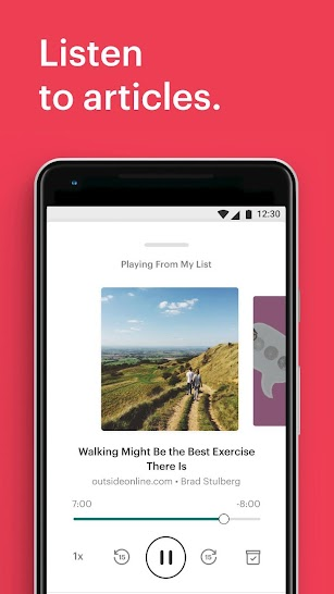 Pocket: Save. Read. Grow. screenshot for Android