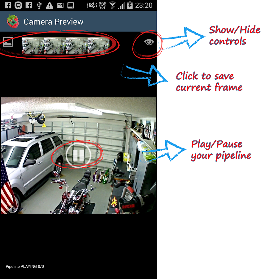 RaspberryPi Camera Viewer- screenshot