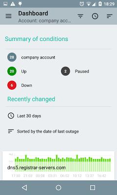 Uptimerobot Android - screenshot