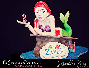 Photo: Zaylie's Little Mermaid by Kaiulani Cake Artistry (5/15/2012) View cake details here: http://cakesdecor.com/cakes/15396