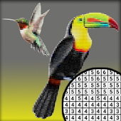 Nice Birds Pixel Art: Coloring By number