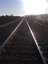 Photo: There was a period of time we walked on the train tracks. Its actually not really that comfortable to walk on. But interesting!