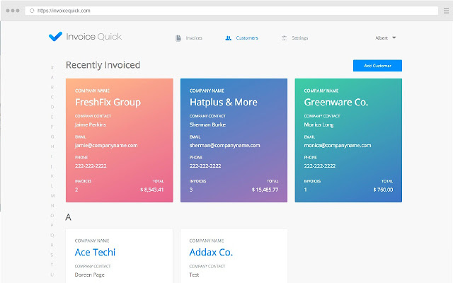 Invoice Quick Chrome Web Store - Free invoice generator software for service business