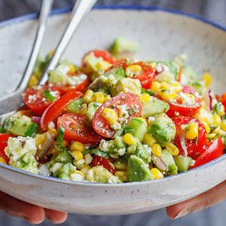 Avocado Feta Corn Salad.