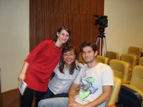 Photo: Isabel Grau (Presidente da REDARTE/RJ), Mary K. Shinkado (Vice-Presidente) e o palestrante Moreno Barros.