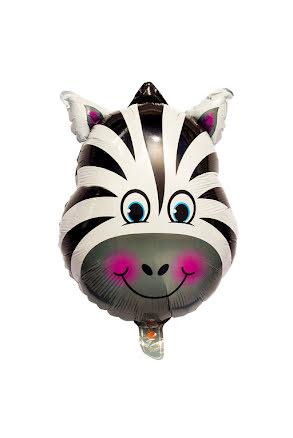 Folieballong, zebra