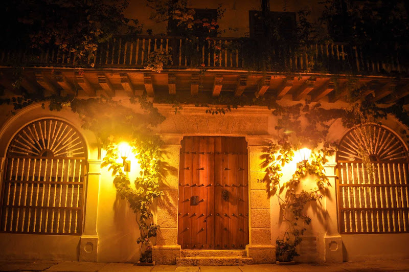 A nighttime shot in Cartagena, Colombia.