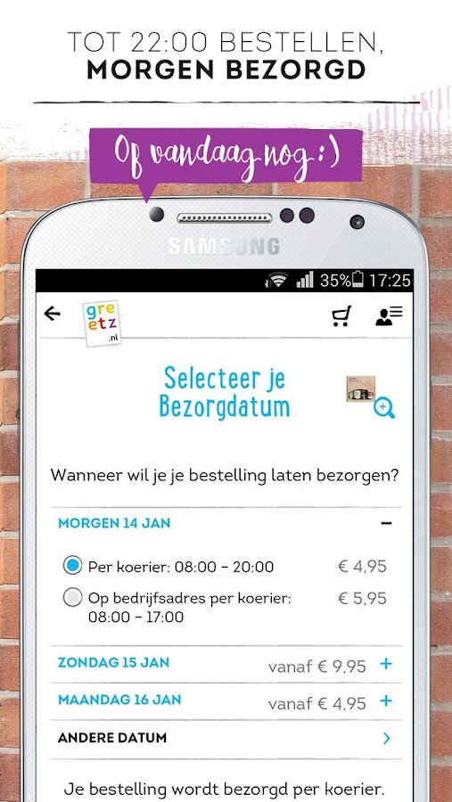 Greetz - kaarten en cadeaus- screenshot