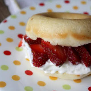 Strawberry Shortcake with Homemade Donuts.