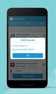 Ram Booster And Cache Cleaner-Memory Cleaner 2018 - náhled
