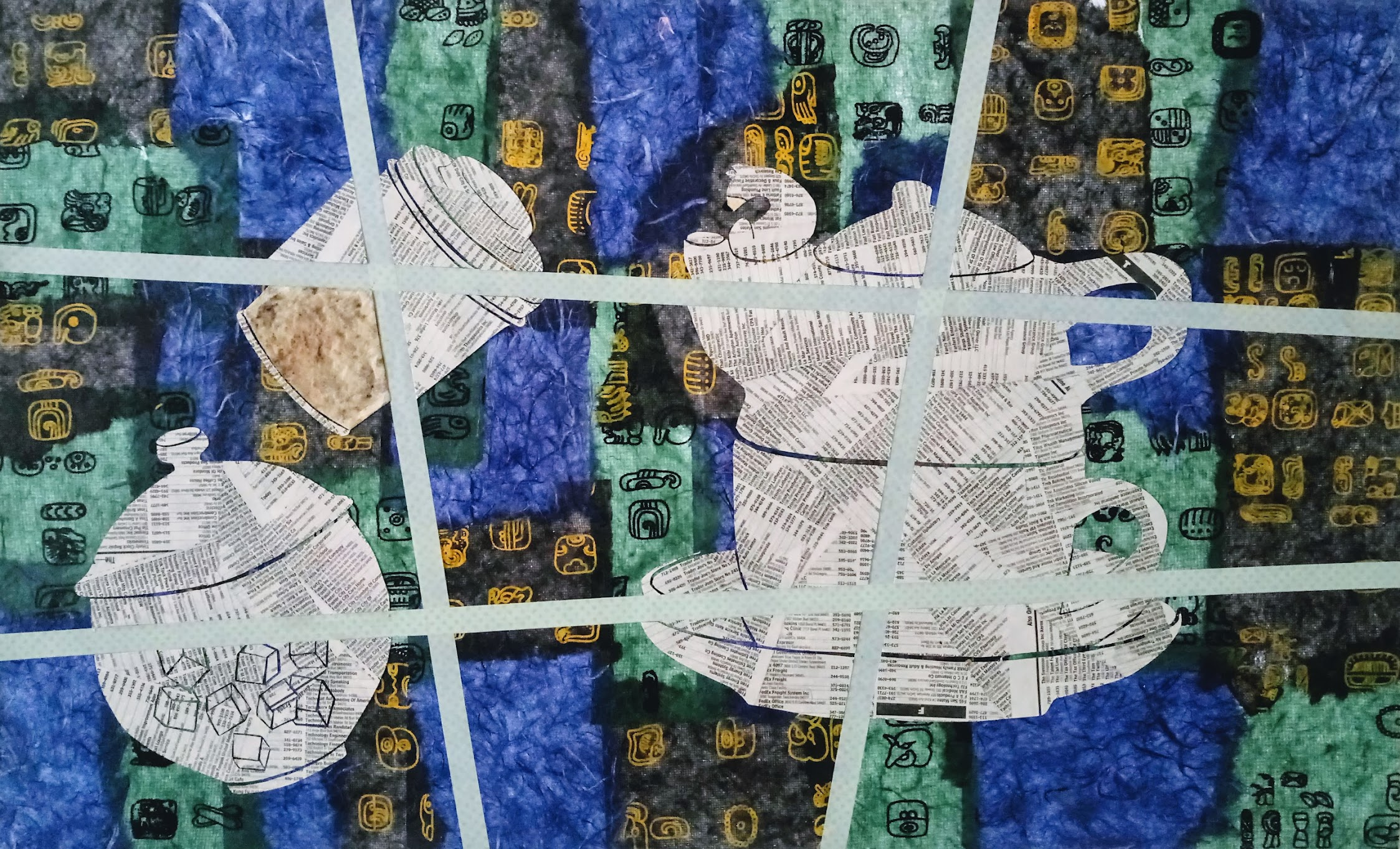 Midnight Tea Time Paper Collage - from Talk Textile Study