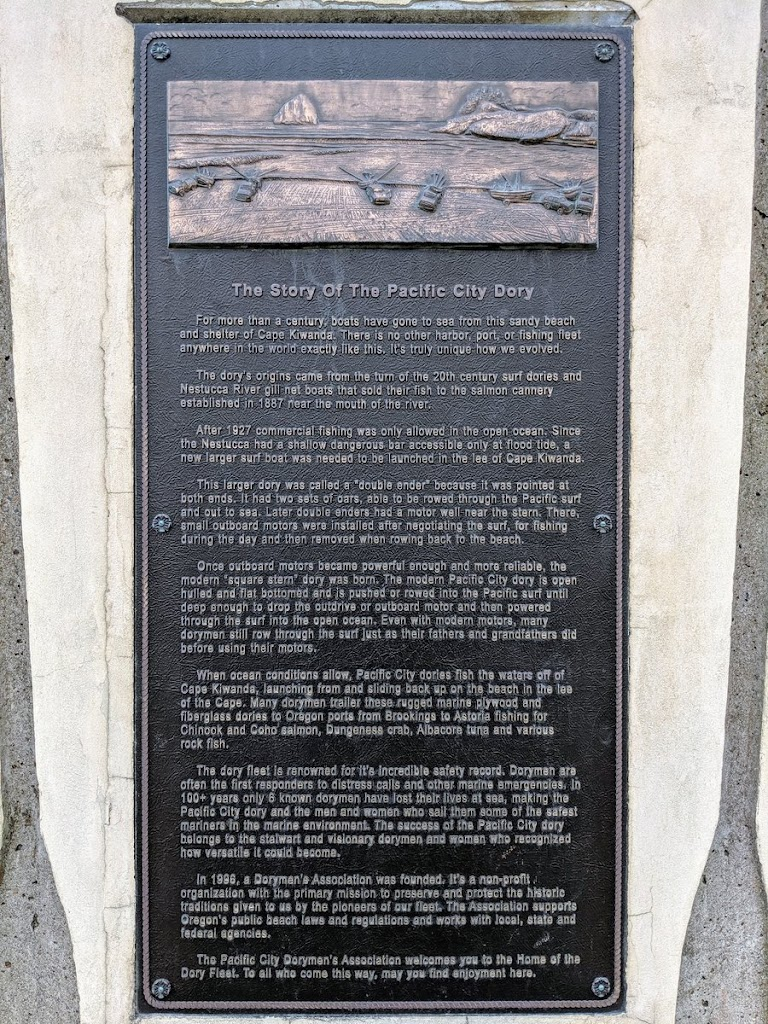 Read the Plaque - The Story of the Pacific City Dory