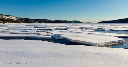Photo: This is not from the North Pole, but a fjord in Southern Norway - Drammensfjorden.