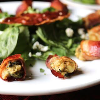 Prosciutto Wrapped Kale & Feta Lentil Bites