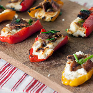 Goat Cheese and Bacon Stuffed Peppers.
