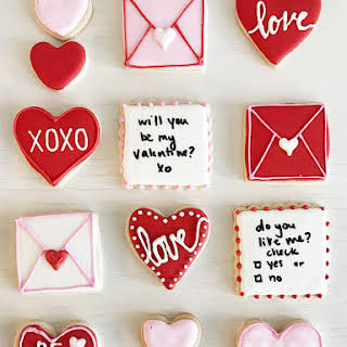 Valentine's Day Sugar Cookies with Royal Icing.