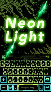 Neon Light Emoji Kika Keyboard Screenshots