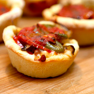 Mini Deep Dish Party Pizzas Recipe