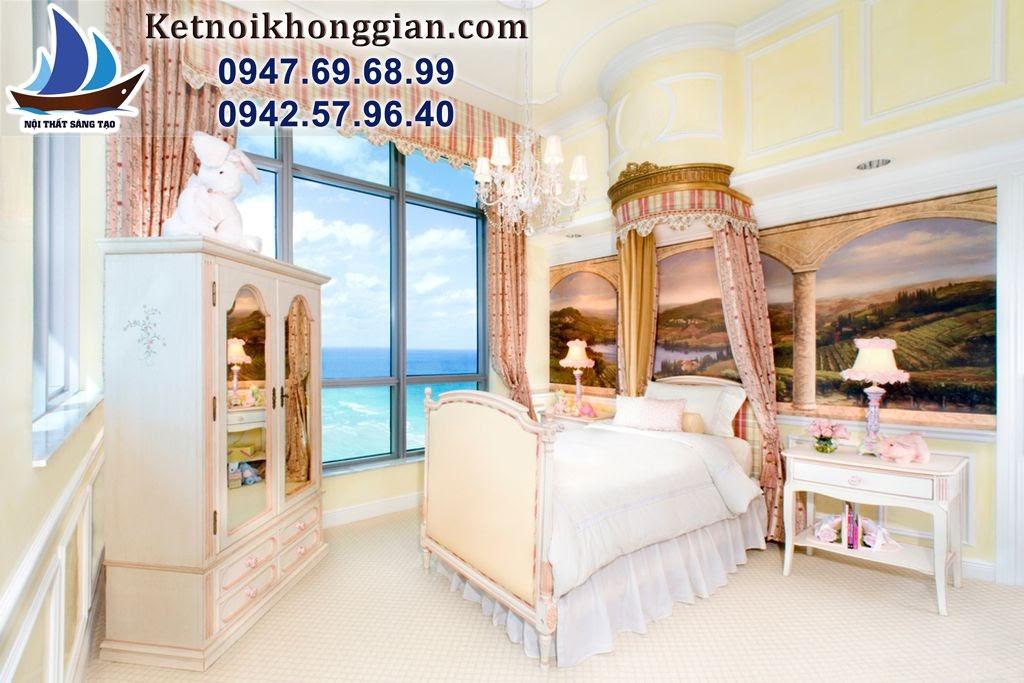 thiết kế phòng ngủ bé gái theo phong cách ấn độ