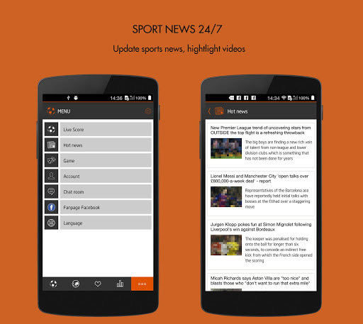 mobile livescore football