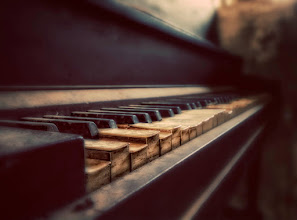 """Photo: Abandoned piano sitting inside a """"closet"""" in the ghost Town of Ruby, Arizona. Vintage treatment in Photoshop, but all details are real. At the same time I felt happy finding this piano, I felt bad for such a beauty to be left abandoned to the weather and time decay..."""