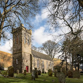 Ettrick Church by James Johnstone - Buildings & Architecture Places of Worship ( ettrick, church, 4 places, cemetary, 3 nature, trees )